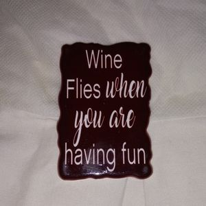 Ceramic Magnet - Wine Flies